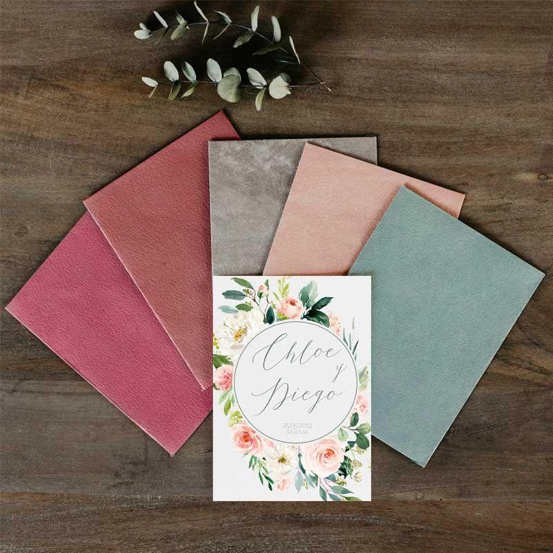 Sobres invitaciones de boda rústica