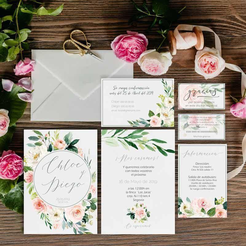 Colección invitaciones de boda rústicas