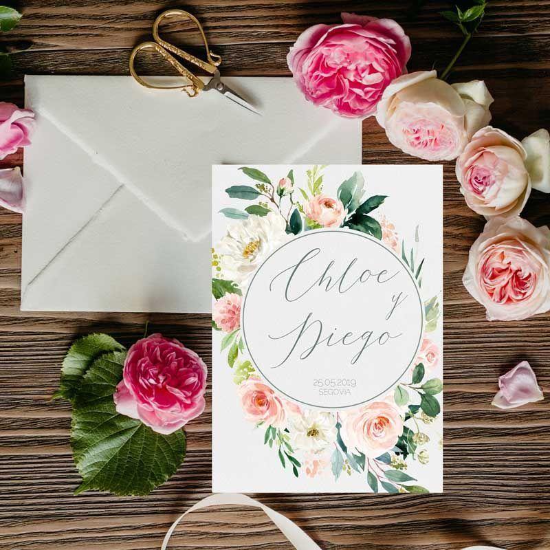 Invitaciones de boda rústicas.