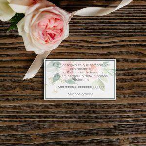 Lista de boda flores acuarela rosas a juego tus invitaciones de boda