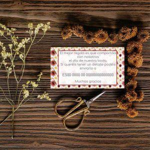 Tarjeta lista de boda. Invitaciones de boda otoño rusticas