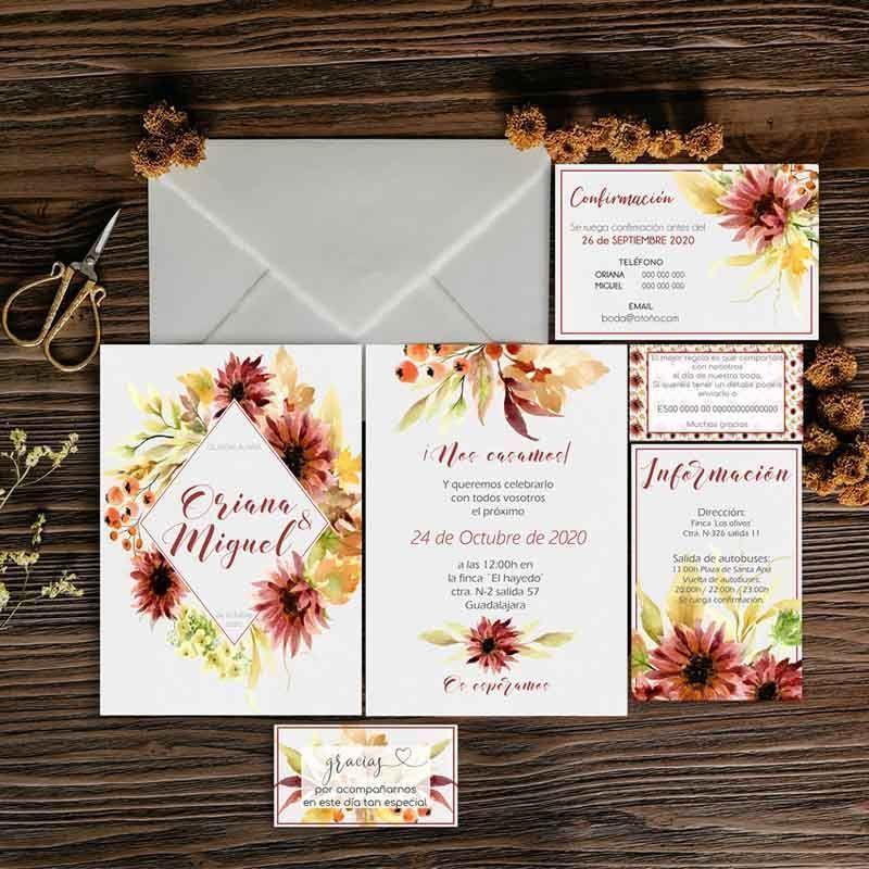 Papelería boda boda Colección Oriana