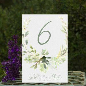 Números de mesa boda rústicas al aire libre
