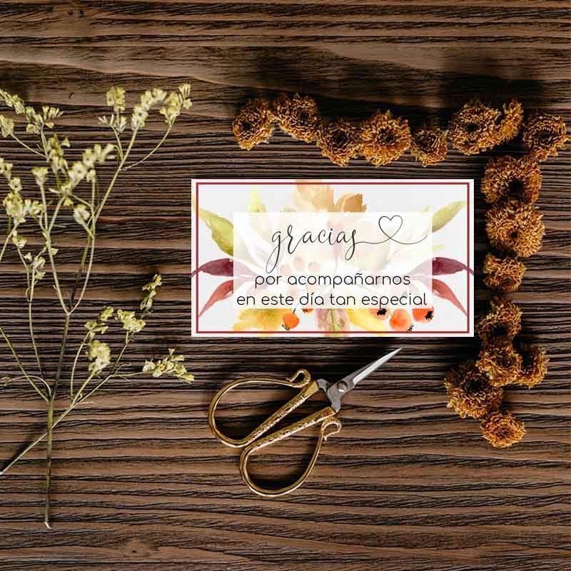 Invitaciones de boda rústicas otoño
