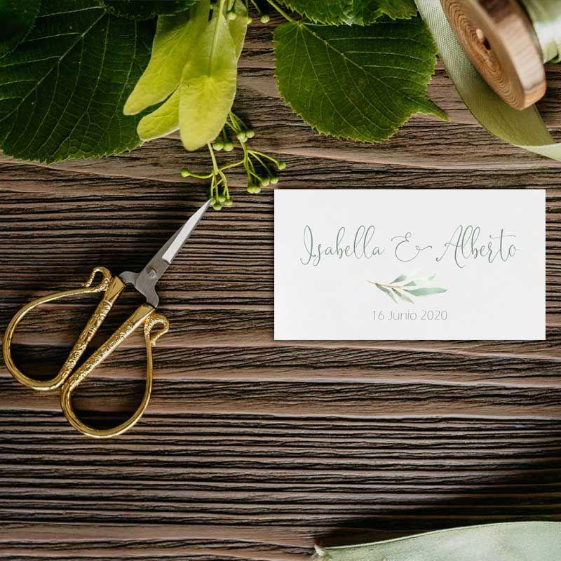 Tarjeta agradecimiento invitaciones de boda rústicas
