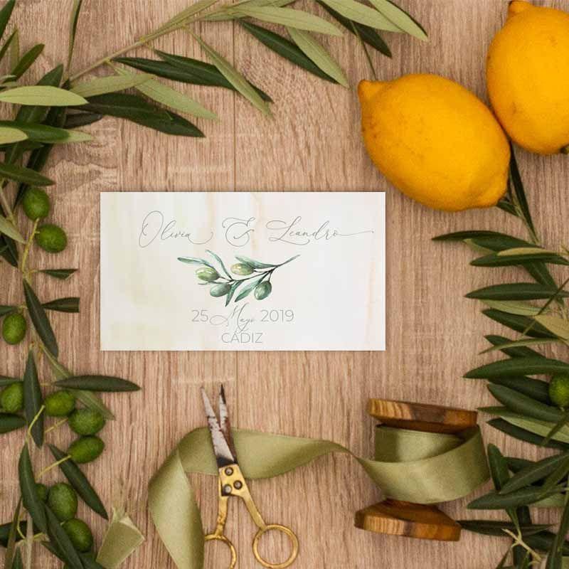 Tarjeta agradecimientos bodas rústicas