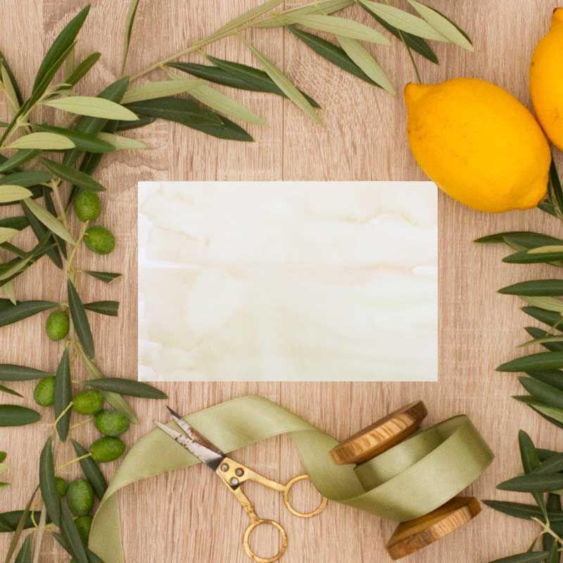 Tarjeta confirmación invitaciones de boda olivos. Bodas al aire libre