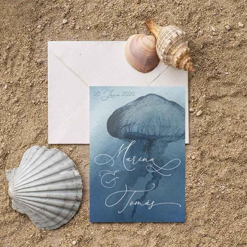 Invitaciones de boda marinas. Bodas en la playa