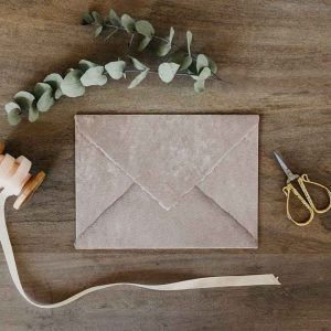 sobres para bodas rústicas