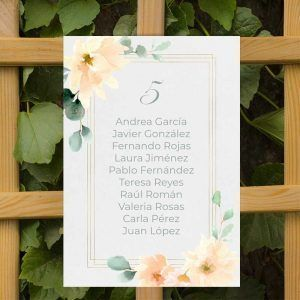 Seating plan boda rústica verano