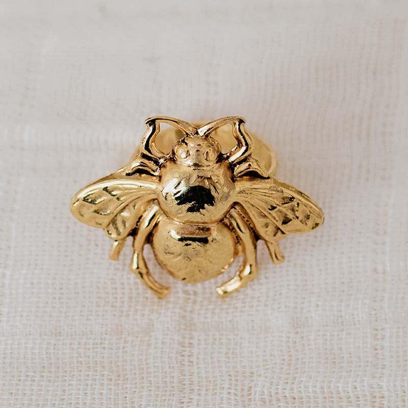 Anillo abeja oro