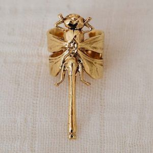 Anillo libelula oro