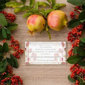 Tarjeta lista boda rústica otoño 'Amber'