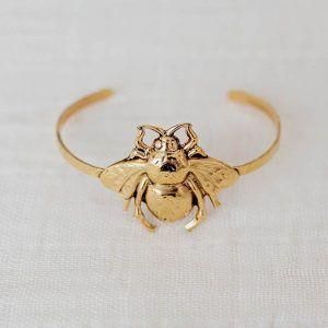 brazalete abeja oro