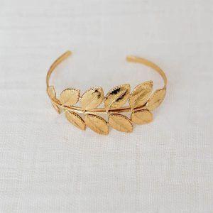 brazalete hojas oro