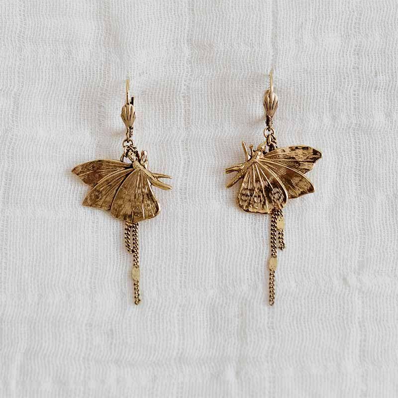 pendientes mariposas lateral