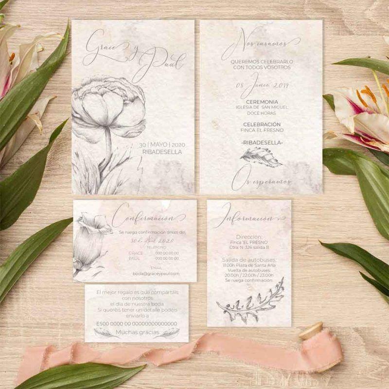 Colección invitación de boda vintage