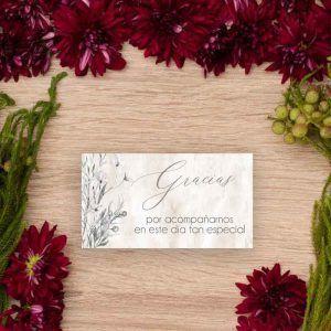 Tarjeta agradecimientos 'Lionetta'