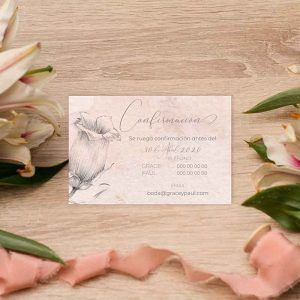 Tarjeta confirmación boda 'Grace'