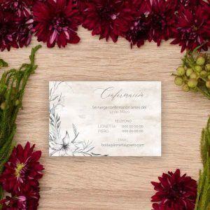 Tarjeta confirmación boda 'Lionetta'