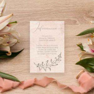 Tarjeta información boda 'Grace'