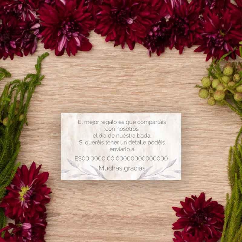 Tarjeta lista boda 'Lionetta'
