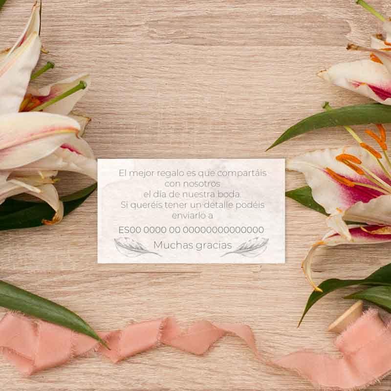 Tarjeta lista de boda 'Grace'