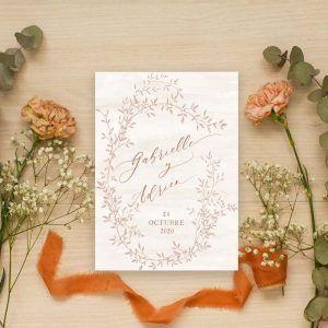 Invitación de boda vintage 'Gabrielle'