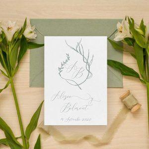 Invitaciones de boda vintage 'Alizee'
