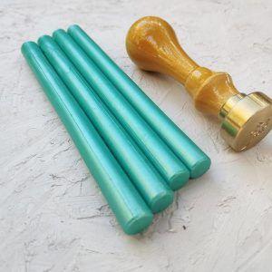 Barra de lacre aguamarina perlado