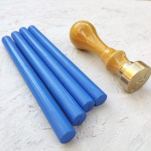 Barra de lacre azul cobalto