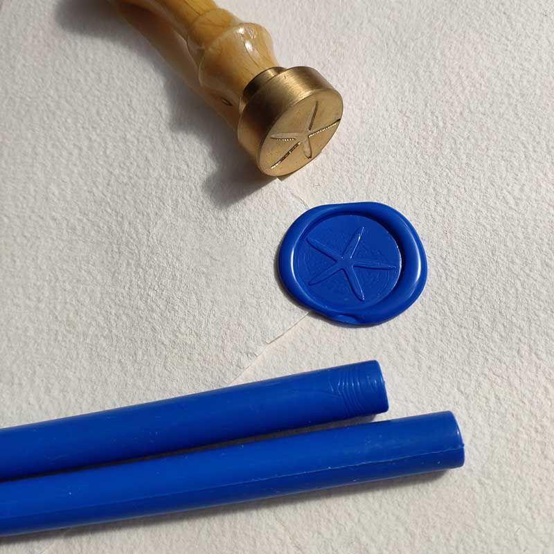 Lacre azul cobalto