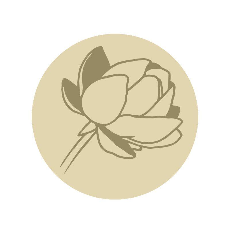Sello lacre magnolia