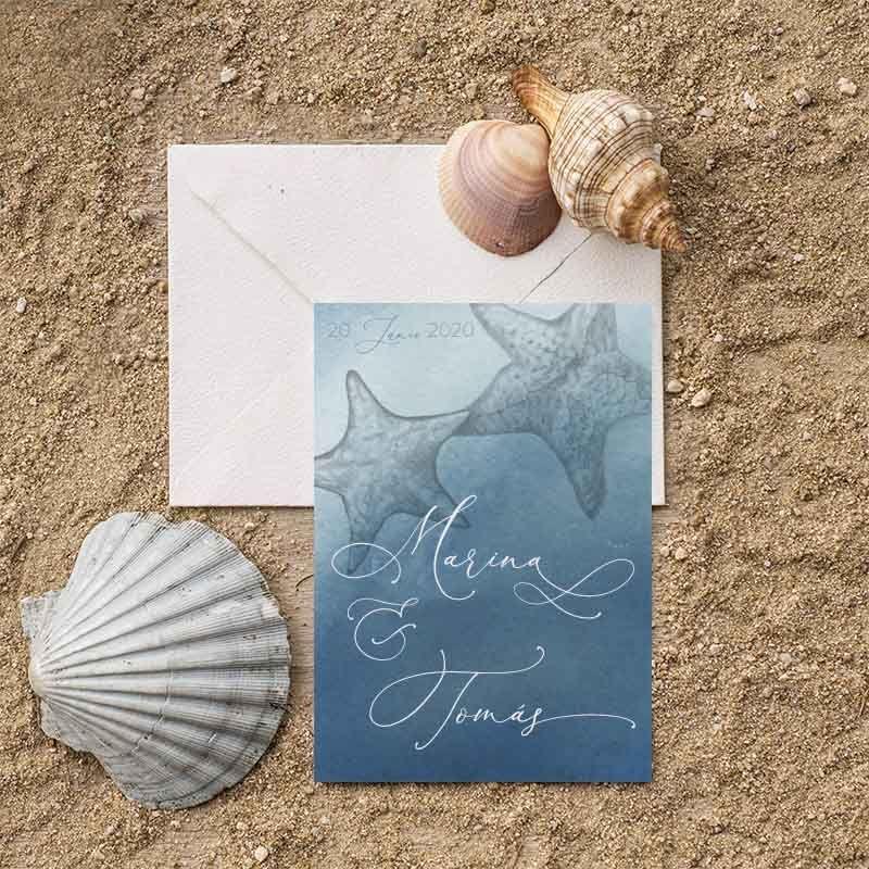 marina invitacion estrellas de mar