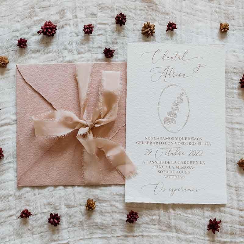 Invitación de boda Chantal