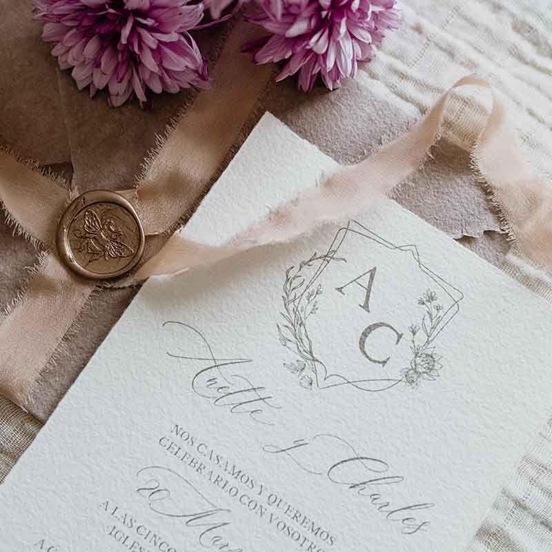 Invitación de boda Anette detalle