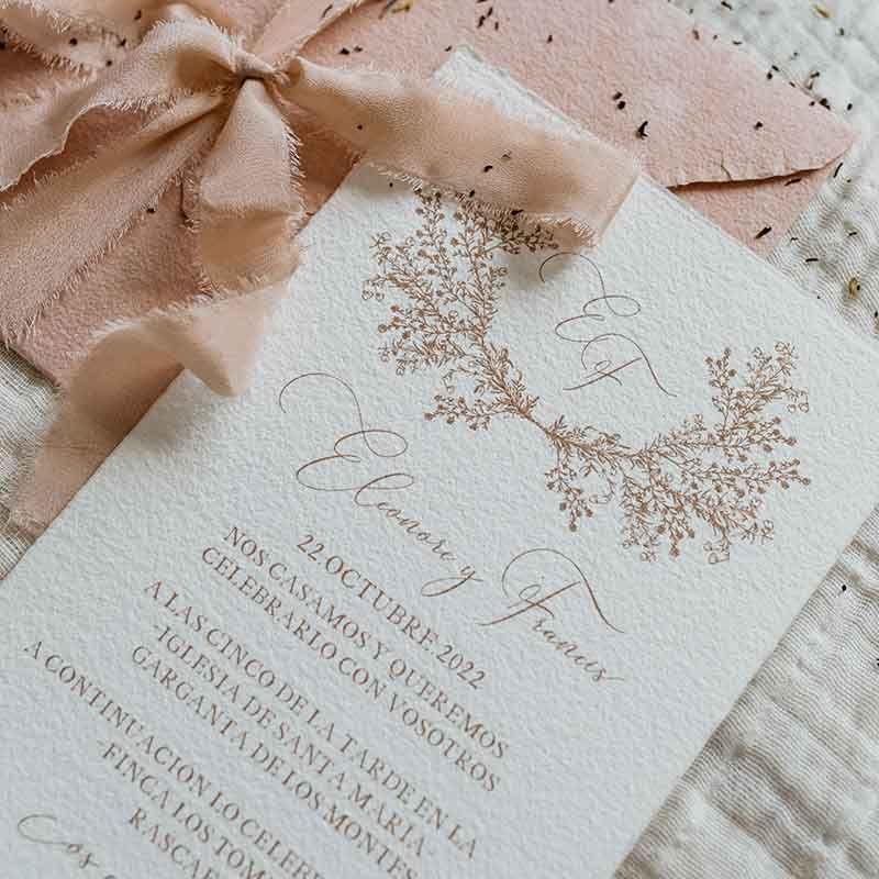 Invitación de boda Eleonore caligrafía