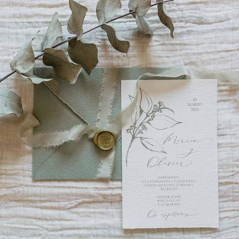 Invitación de boda MArion