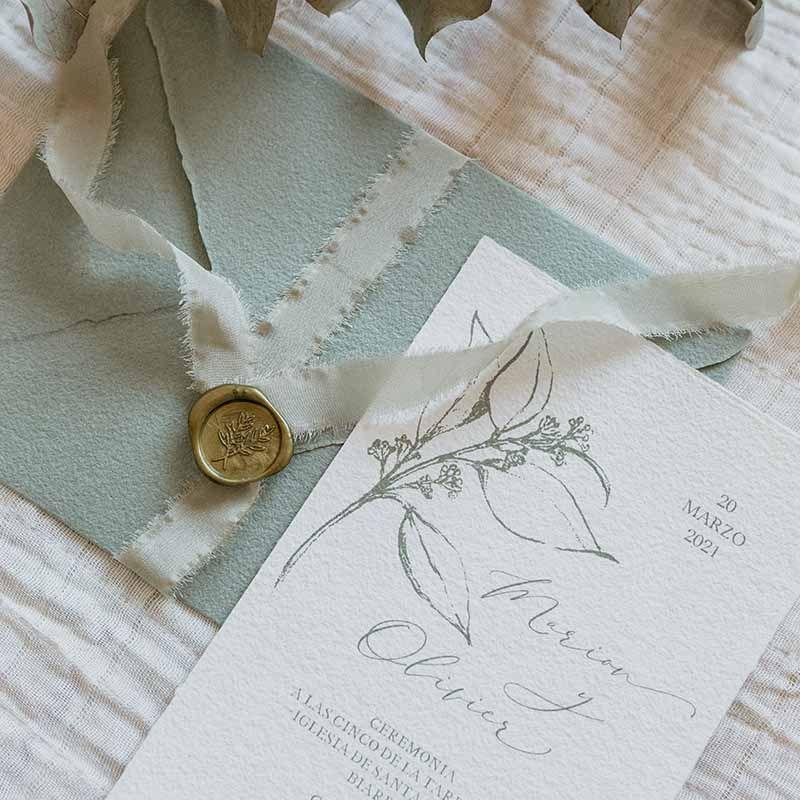 Invitación de boda Marion detalle