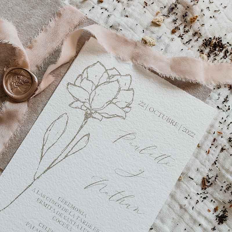 Invitación de boda Paulette detalle