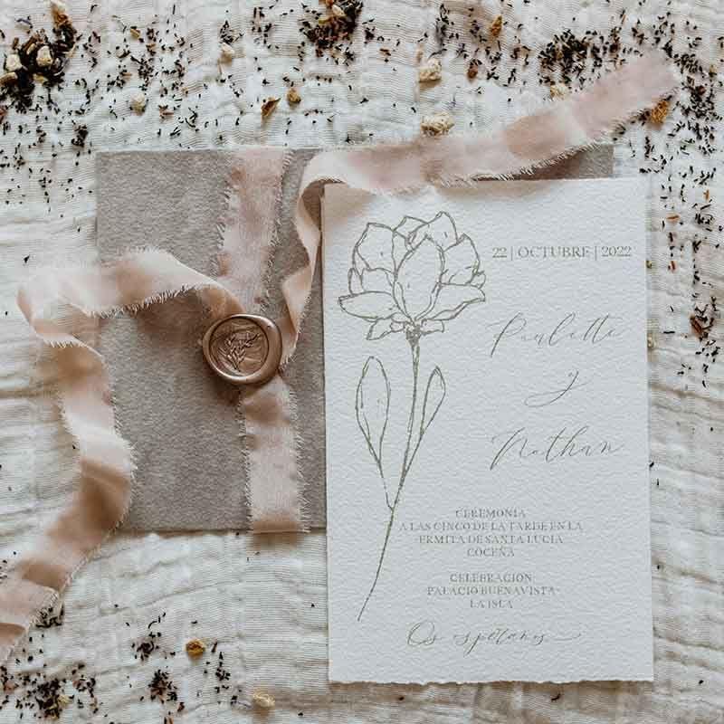 Invitación de boda Paulette
