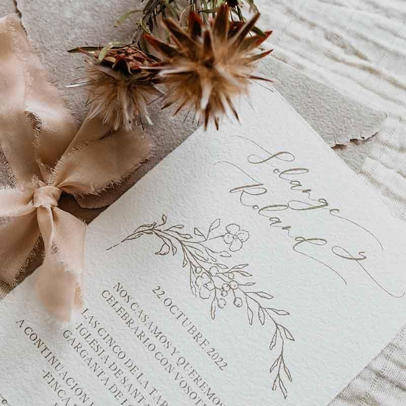 Invitación de boda Solange detalle