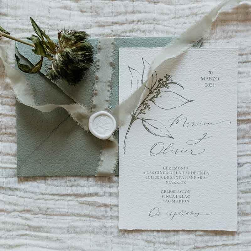 Invitaciones de boda Marion