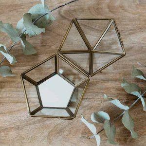 caja porta anillos cristal boda
