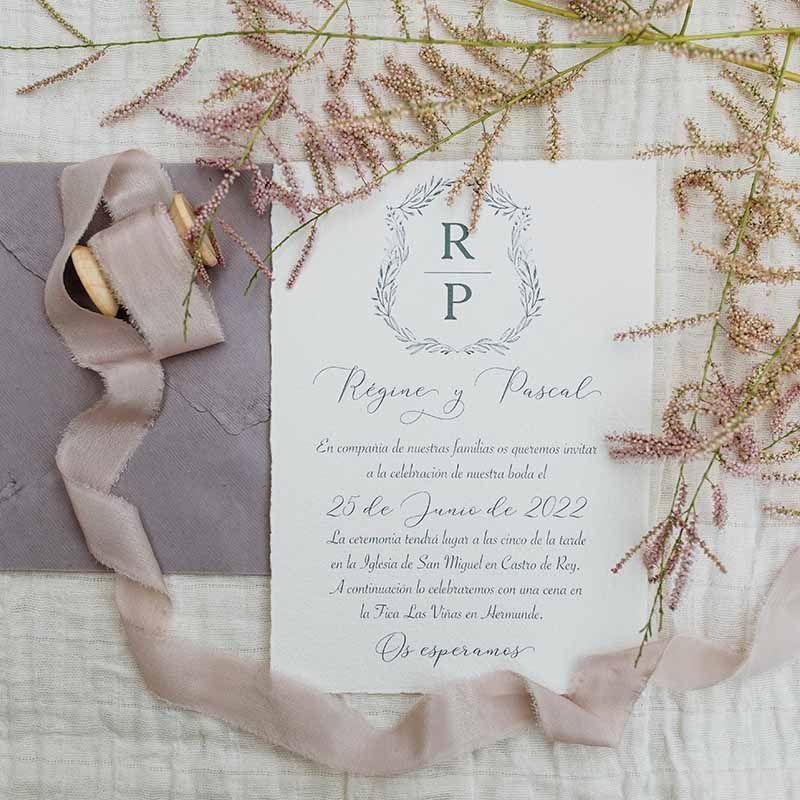 Invitación de boda 'Régine