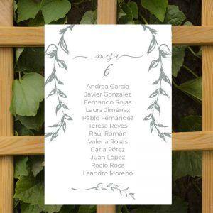 Seating plan boda rústica ALIZEE