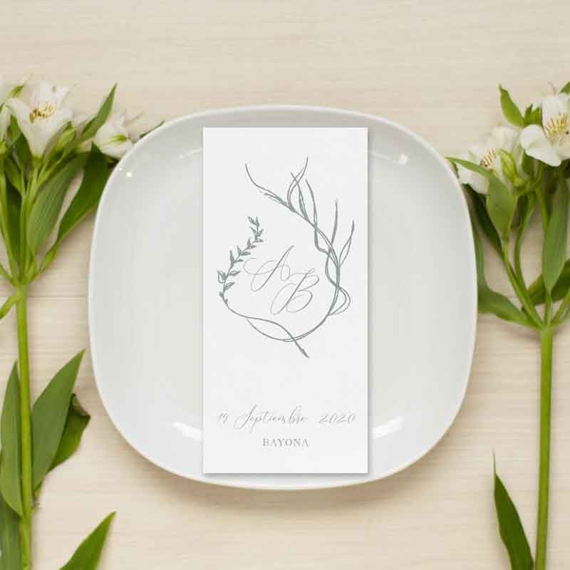 menu de boda personalizado alizee
