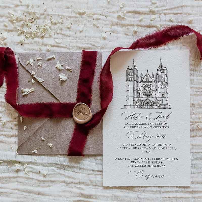 Invitacion de boda Iglesia