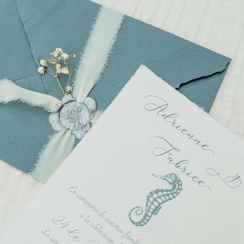 invitacion de boda nautica