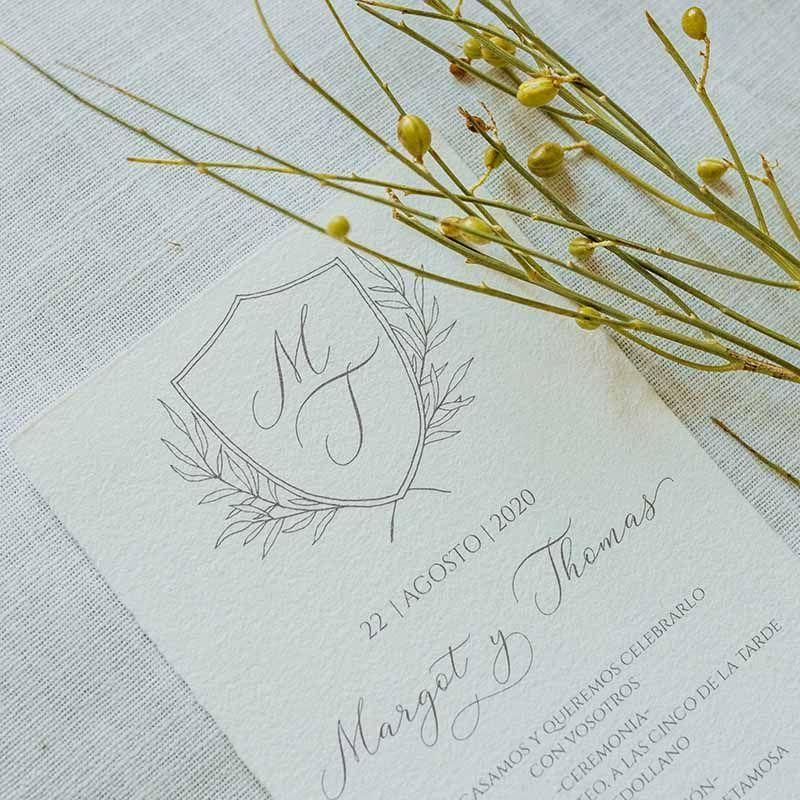 invitacion de boda rustica margot